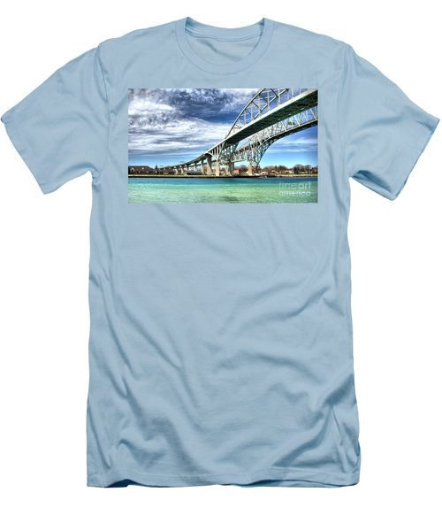 Blue Water Bridge Men's T-Shirt (Athletic Fit)