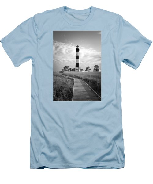 Bodie Island Lighthouse Men's T-Shirt (Slim Fit) by Marion Johnson