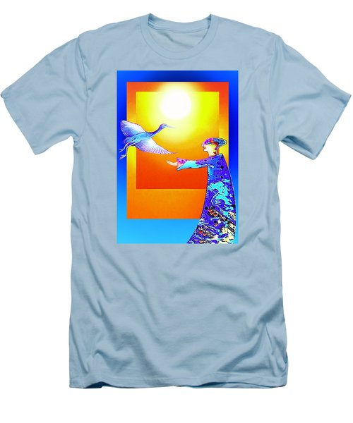 Colorful Friends Men's T-Shirt (Slim Fit) by Hartmut Jager