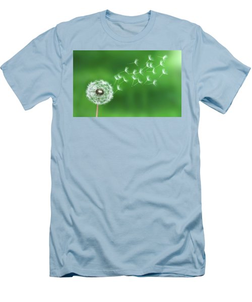 Men's T-Shirt (Slim Fit) featuring the photograph Dandelion Seeds by Bess Hamiti