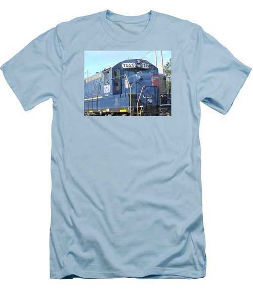 Diesel Engline Train Men's T-Shirt (Slim Fit) by Linda Geiger