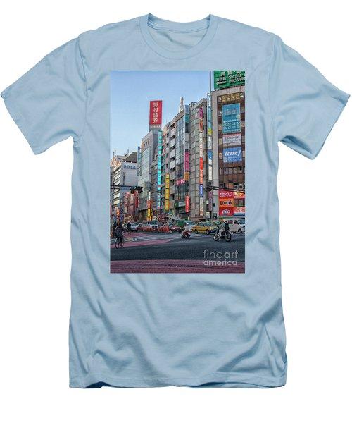 Downtown Tokyo Men's T-Shirt (Slim Fit) by Patricia Hofmeester