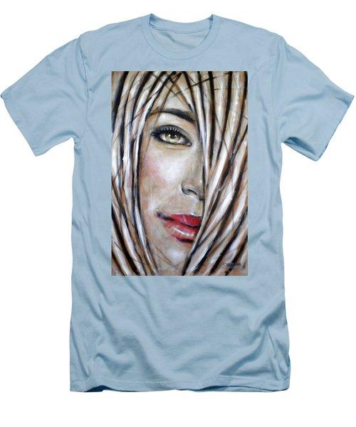 Dream In Amber 120809 Men's T-Shirt (Slim Fit) by Selena Boron