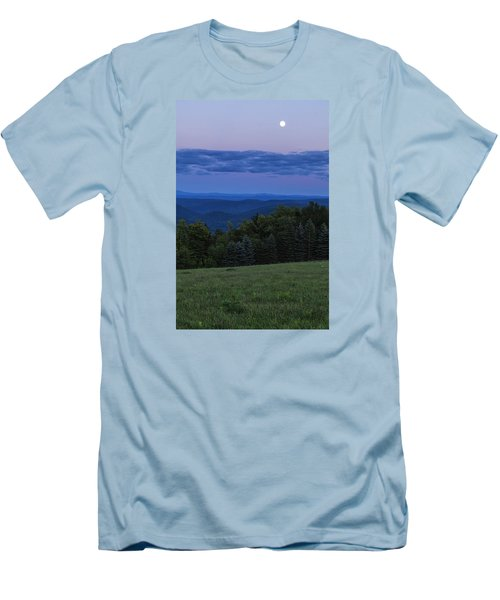 Men's T-Shirt (Slim Fit) featuring the photograph East Dover Full Moon by Tom Singleton