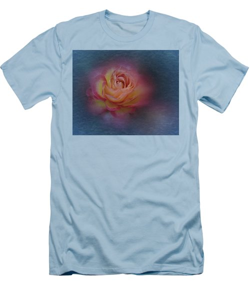 Men's T-Shirt (Slim Fit) featuring the photograph End Of September 2016 Rose by Richard Cummings
