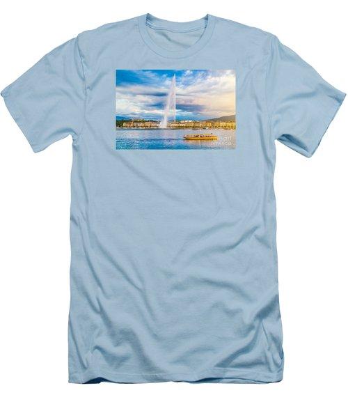 Geneva Men's T-Shirt (Slim Fit) by JR Photography