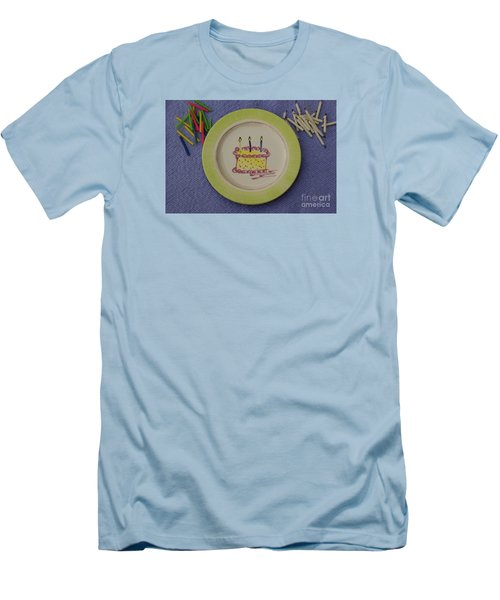 Men's T-Shirt (Slim Fit) featuring the photograph Happy Birthday by Sandy Molinaro