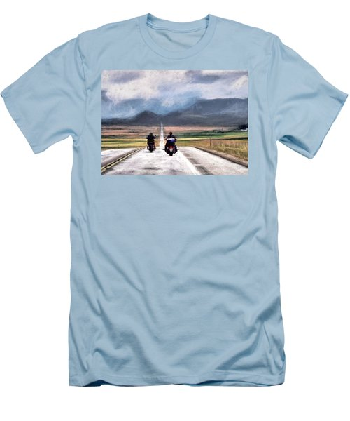 Men's T-Shirt (Slim Fit) featuring the photograph Highway In The Wind by Jim Hill