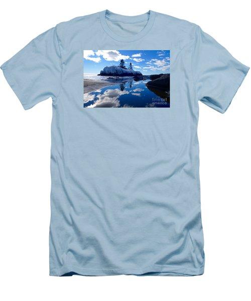 Hollow Rock Reflections Men's T-Shirt (Slim Fit) by Sandra Updyke