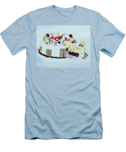 Ice Cream Cake Oil On Canvas Men's T-Shirt (Athletic Fit)