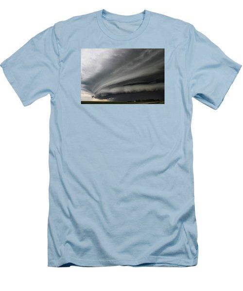 Men's T-Shirt (Slim Fit) featuring the photograph Intense Shelf Cloud by Ryan Crouse