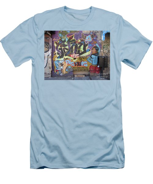 Men's T-Shirt (Slim Fit) featuring the photograph Inwood Graffiti  by Cole Thompson