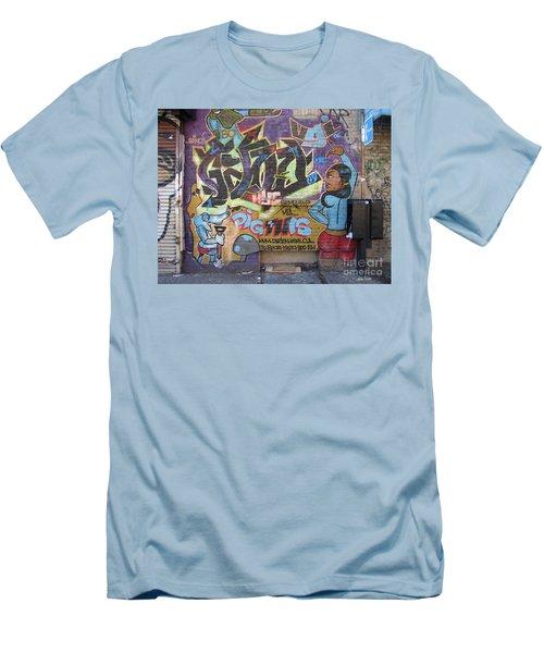 Inwood Graffiti  Men's T-Shirt (Slim Fit) by Cole Thompson