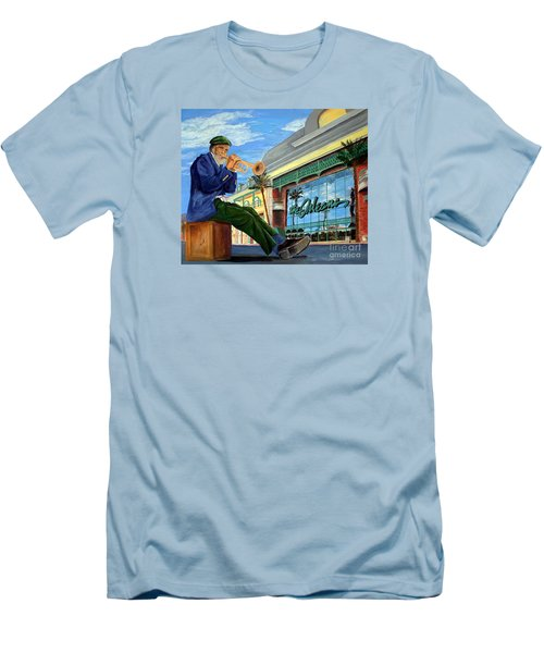 Jazz At The Orleans Men's T-Shirt (Slim Fit) by Vicki  Housel