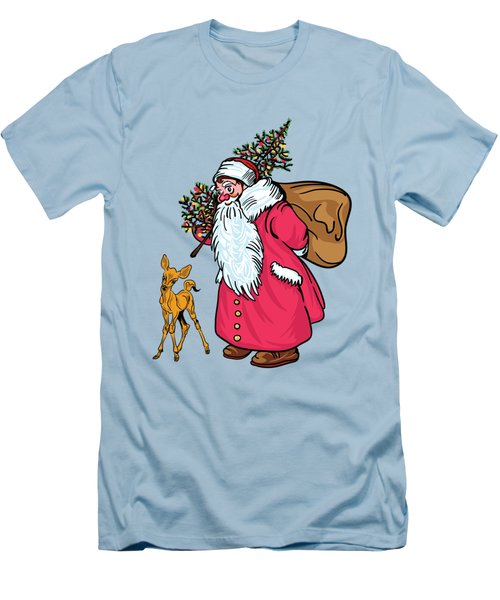 Men's T-Shirt (Slim Fit) featuring the painting Merry Christmas. by Andrzej Szczerski
