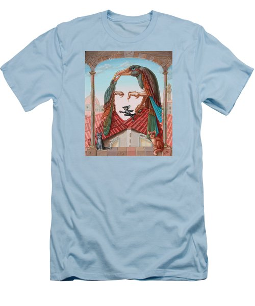 Mona Lisa. Air Men's T-Shirt (Athletic Fit)