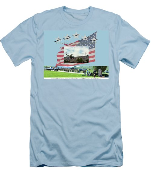 Men's T-Shirt (Slim Fit) featuring the digital art Our Memorial Day Salute by Daniel Hebard