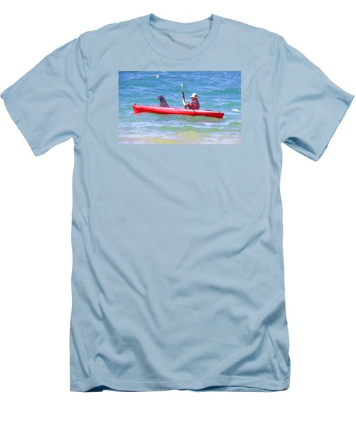 Out For A Ride Men's T-Shirt (Slim Fit) by Susan Crossman Buscho