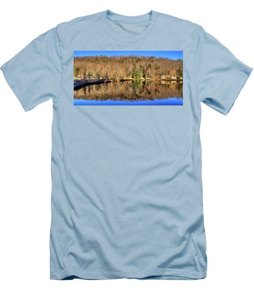 Men's T-Shirt (Slim Fit) featuring the photograph Pond Reflections by David Patterson