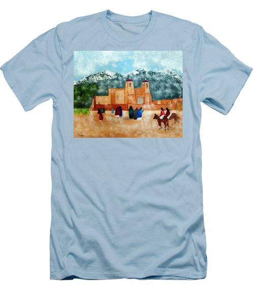 Pueblo Church Men's T-Shirt (Athletic Fit)