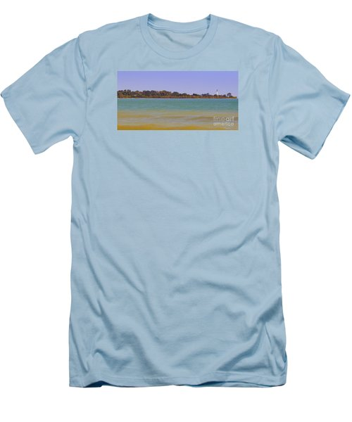Men's T-Shirt (Slim Fit) featuring the photograph Racine Lakefront by Ricky L Jones