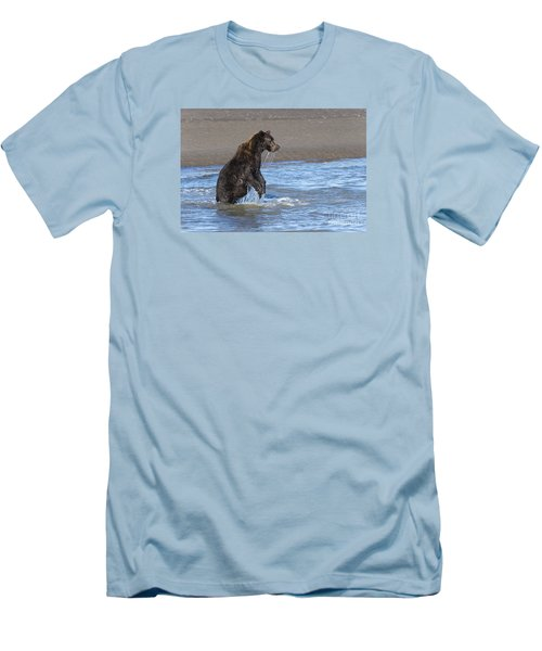 Men's T-Shirt (Slim Fit) featuring the photograph Ready, Set, Go by Sandra Bronstein