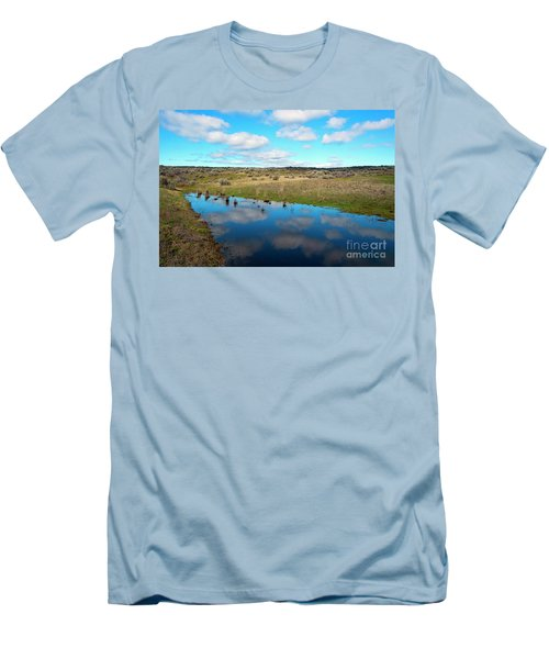 Men's T-Shirt (Slim Fit) featuring the photograph Reflections Of Spring by Mike Dawson