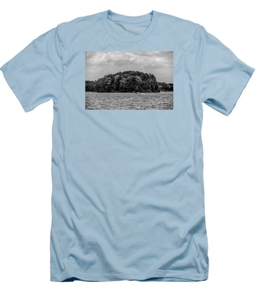 Relaxing On Lake Keowee In South Carolina Men's T-Shirt (Slim Fit) by Alex Grichenko