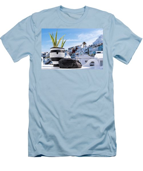 Santorini - Greece Men's T-Shirt (Athletic Fit)