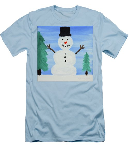 Snowman Men's T-Shirt (Slim Fit) by Anthony LaRocca