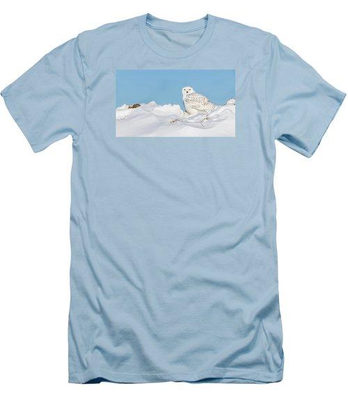 Snowy Owl Men's T-Shirt (Slim Fit) by Dan Traun