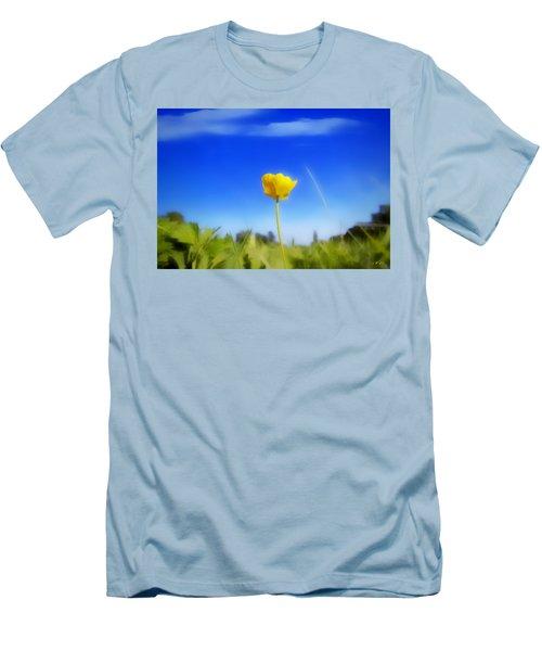 Solitary Flower Men's T-Shirt (Athletic Fit)