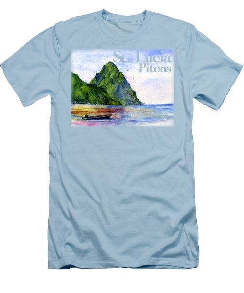 St. Lucia Men's T-Shirt (Athletic Fit)