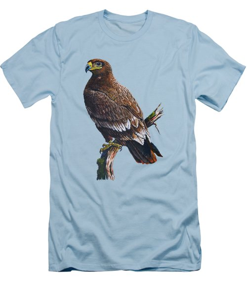 Steppe-eagle Men's T-Shirt (Slim Fit) by Anthony Mwangi