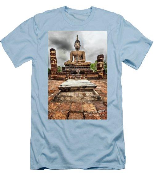 Men's T-Shirt (Slim Fit) featuring the photograph Sukhothai Historical Park by Adrian Evans