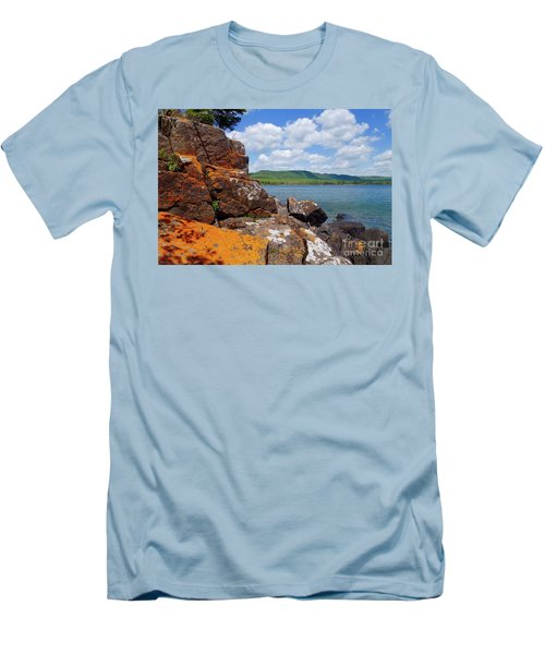 Superior Lichens Men's T-Shirt (Slim Fit) by Sandra Updyke