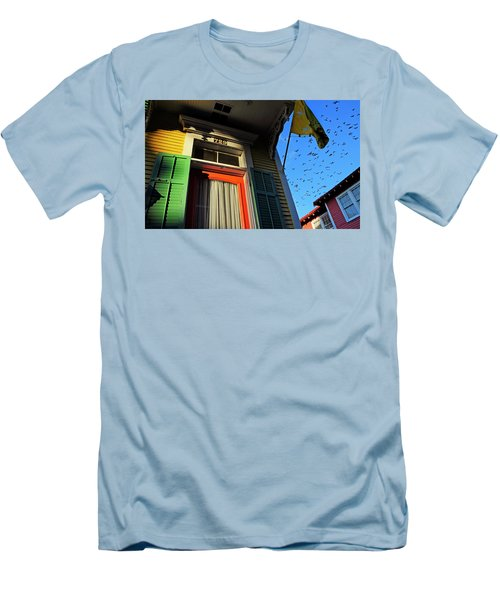 Men's T-Shirt (Slim Fit) featuring the photograph The Birds by Skip Hunt