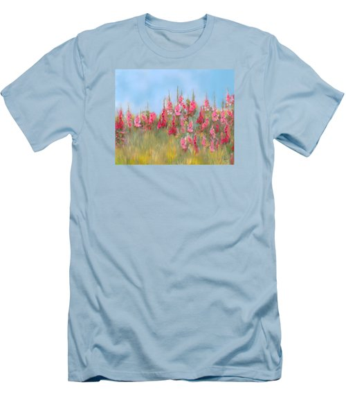 The Earth Laughs In Flowers Men's T-Shirt (Slim Fit) by Colleen Taylor