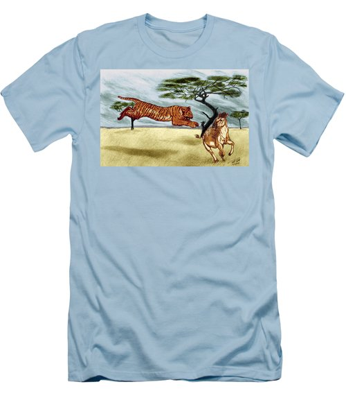 The Lunge Men's T-Shirt (Slim Fit) by Peter Piatt