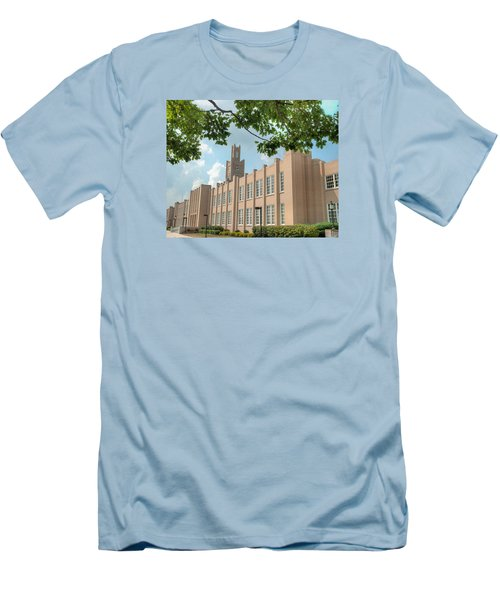 Men's T-Shirt (Athletic Fit) featuring the photograph The School On The Hill by Mark Dodd