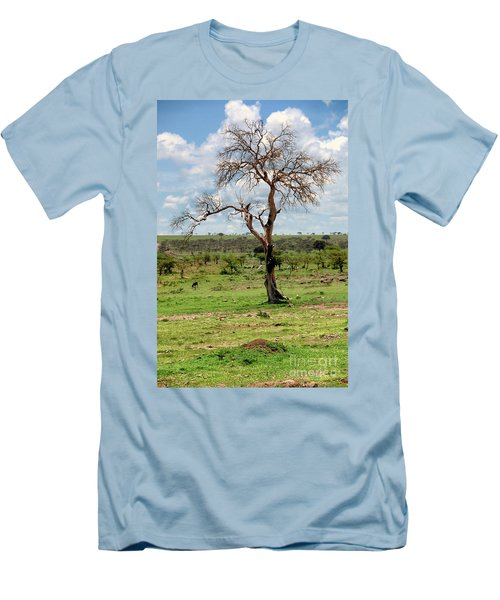 Men's T-Shirt (Slim Fit) featuring the photograph Tree by Charuhas Images