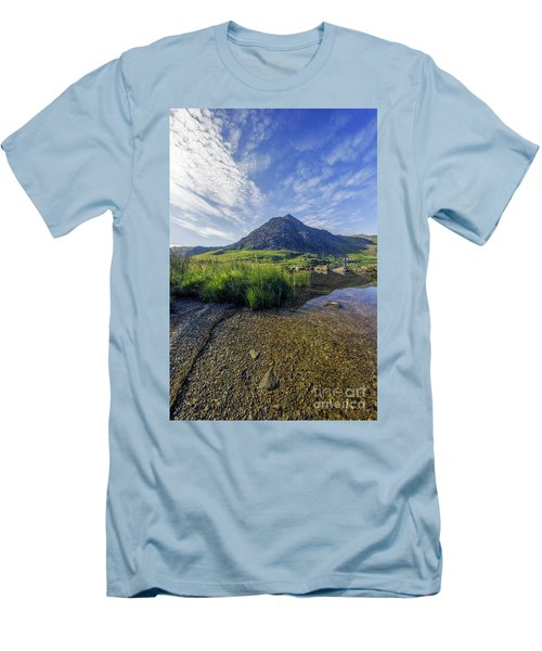 Men's T-Shirt (Slim Fit) featuring the photograph Tryfan Mountain by Ian Mitchell