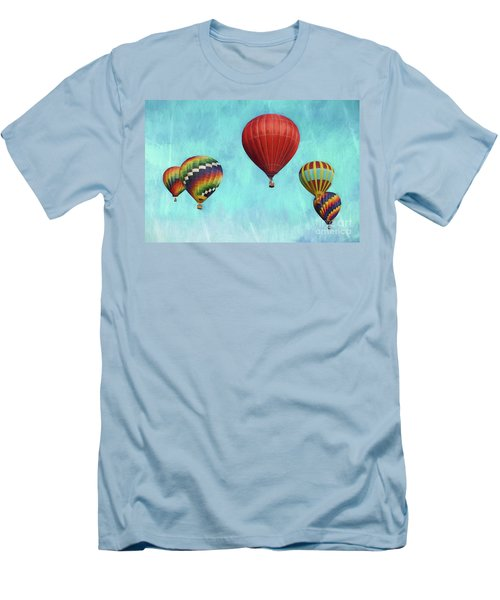 Men's T-Shirt (Slim Fit) featuring the photograph Up Up And Away 2 by Benanne Stiens