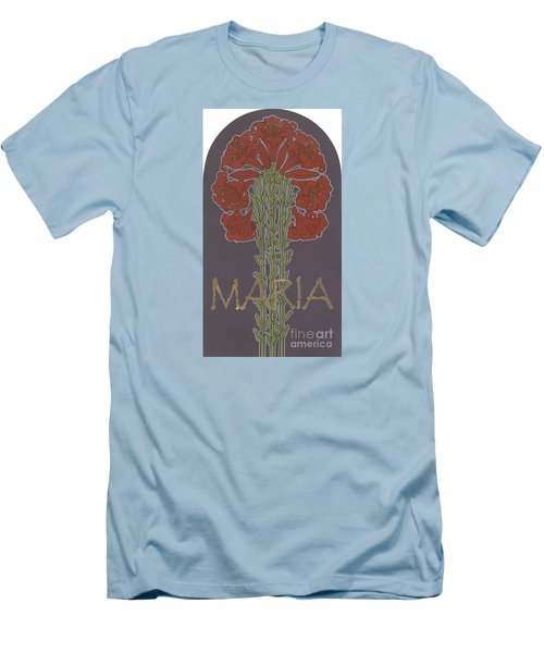 Men's T-Shirt (Athletic Fit) featuring the painting Variation On Our Lady Of Sorrows 236 by William Hart McNichols