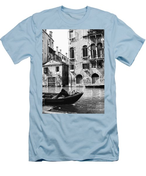 Men's T-Shirt (Slim Fit) featuring the photograph Venice Canal, 1969 by Granger