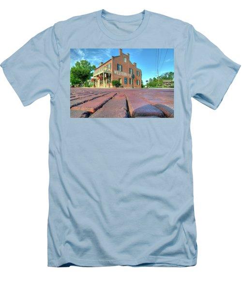 Western House Men's T-Shirt (Slim Fit) by Steve Stuller