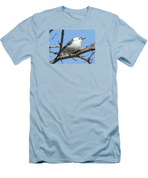 White-breasted Nuthatch Men's T-Shirt (Slim Fit) by Ricky L Jones
