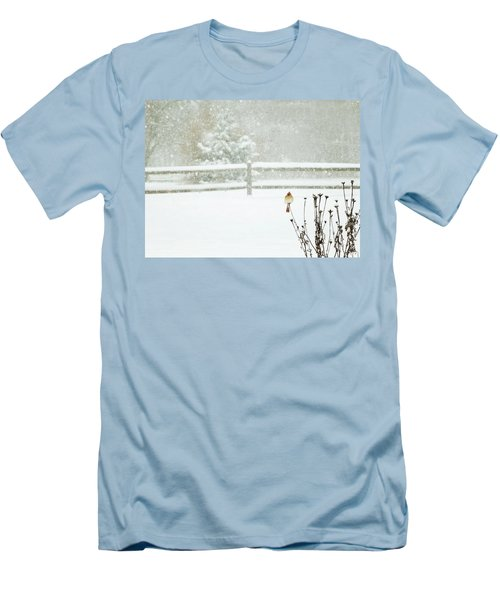 Winter Cardinal Men's T-Shirt (Athletic Fit)
