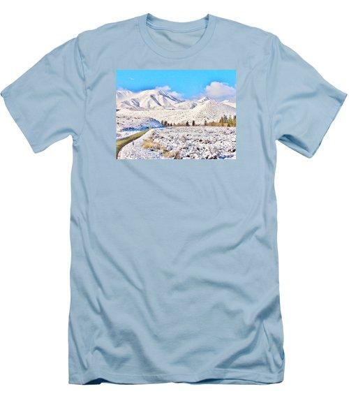 Winter Driving Men's T-Shirt (Slim Fit) by Marilyn Diaz