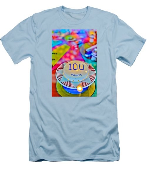 100 Points - Pinball Men's T-Shirt (Slim Fit) by Colleen Kammerer